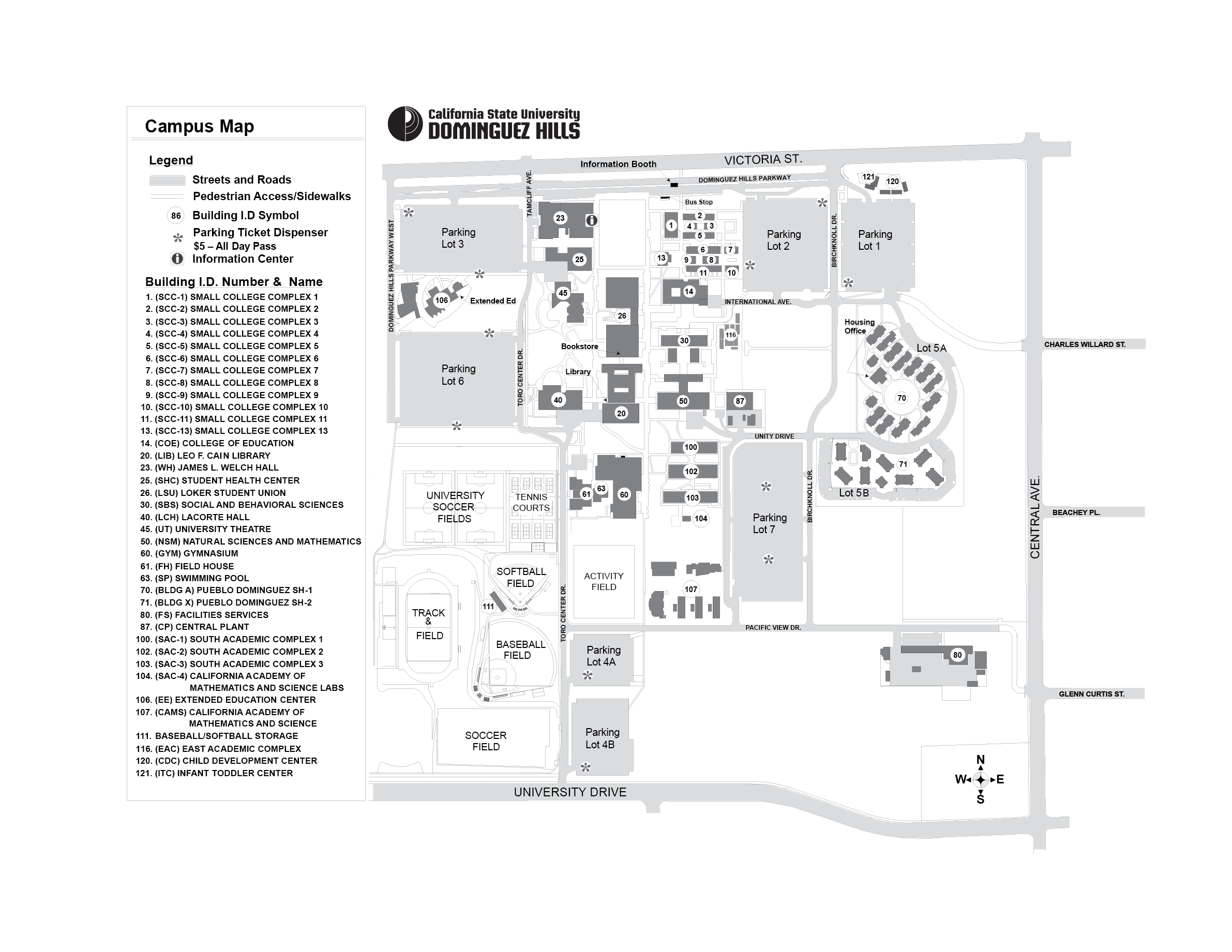 Map of California State University   Dominguez Hills | Central